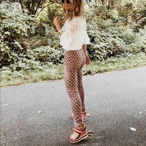 Verge girl Polka dot spot pants